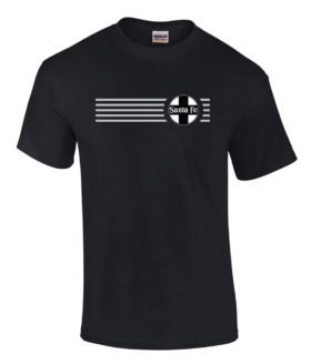 Santa Fe Railroad Black Cross Logo Tee Shirts [tee120]
