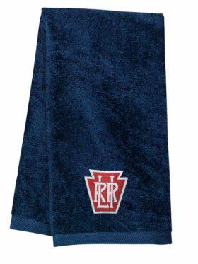 Long Island Railroad Keystone Logo Embroidered Hand Towel [10]