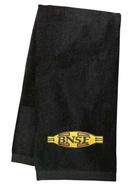 BNSF Cigar Band Logo Embroidered Hand Towel [61]