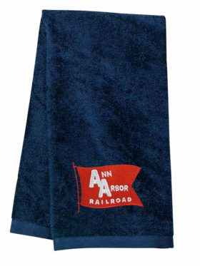Ann Arbor Railroad Embroidered Hand Towel [77]