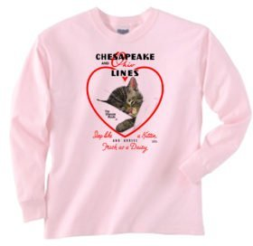 Chessie Hearts and Flowers Sweatshirt