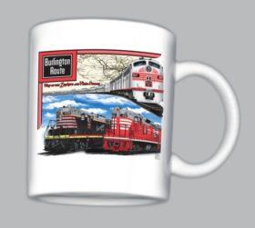 CB&Q Triple Header Mug(mug23)
