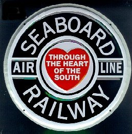 Seaboard Air Line Aluminum Sign