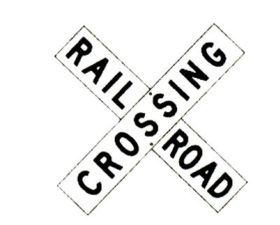 Railroad Cross Bucks Sign