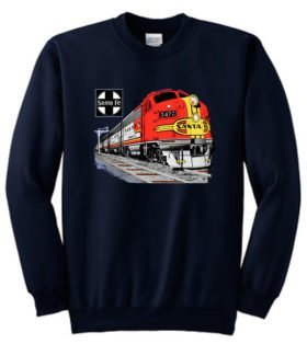 AT&SF (Santa Fe) Super Chief at Night  Sweatshirt [119]