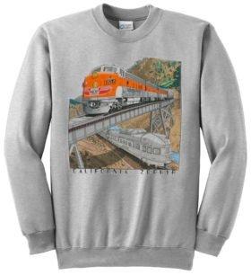 Western Pacific California Zephyr Railroad Train Sweatshirt [128]