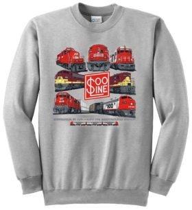Soo Line Collage Authentic  Railroad Sweatshirt [59]