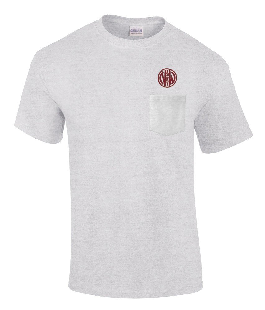 Norfolk and Western Railway Embroidered Pocket Tee [p04]
