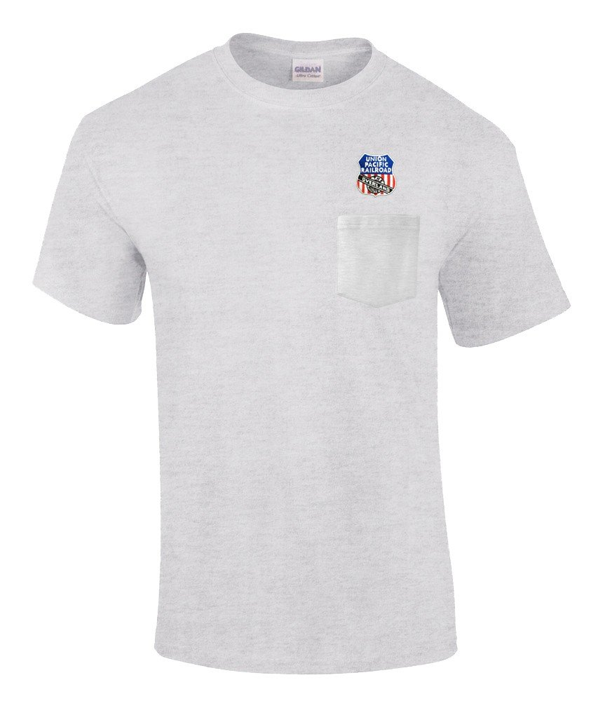 Union Pacific Overland Route Embroidered Pocket Tee [p123]